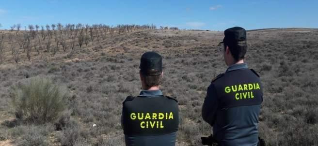 La Guardia Civil en un coto de caza.
