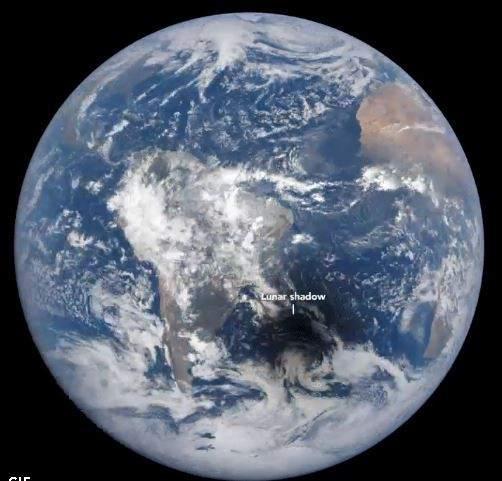 As se vio el ltimo eclipse solar sobre la Tierra desde el