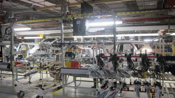 La fábrica de Opel en Figueruelas (Zaragoza).