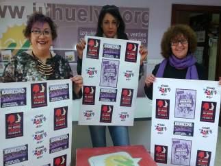Representantes de IU en Huelva.