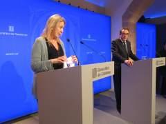 La portavoz del Govern, Neus Munté, y el conseller de Territorio y Sostenibilidad, Josep Rull