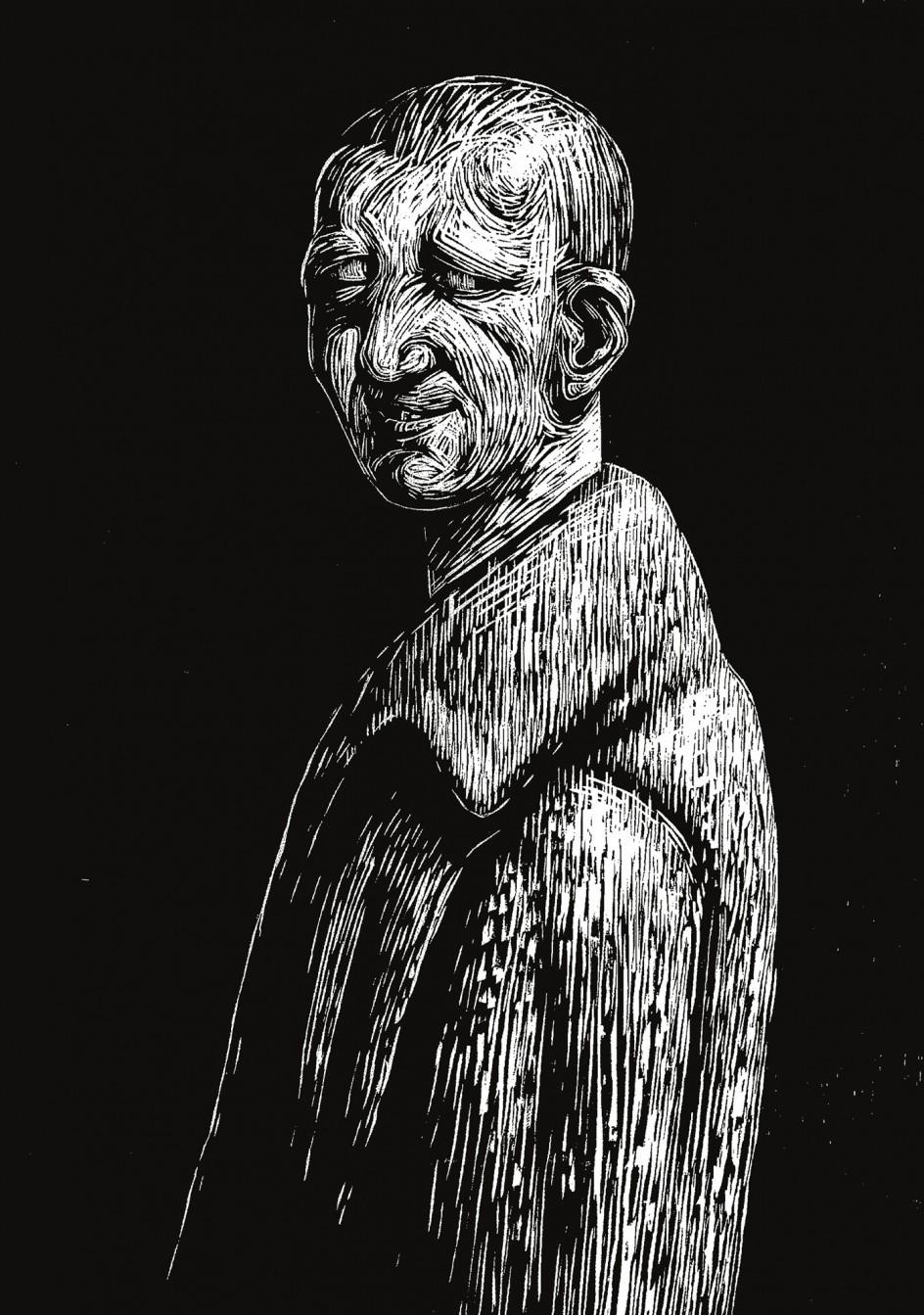 Peter Howson, no title. Grabado del artista escocés Peter Howson