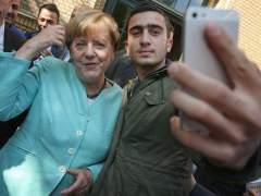 Angela Merkel y Anas Modanami