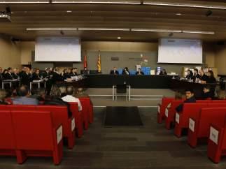 Plano general de la sala donde se celebra el juicio del caso Palau.