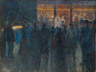 'Fair at Night, the Sideshow' ('Fête foraine la nuit, la parade'), 1888