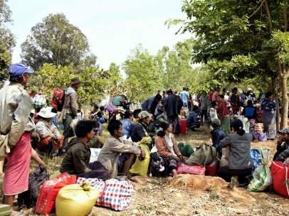 Refugiados birmanos
