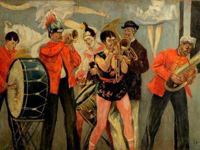 'Saltimbanques—The Sideshow Orchestra' ('Les Saltimbanques—L'Orchestre en parade'), ca. 1884