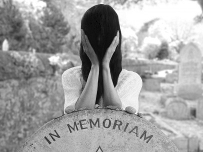 At Claude Cahun's grave by Gillian Wearing 2015