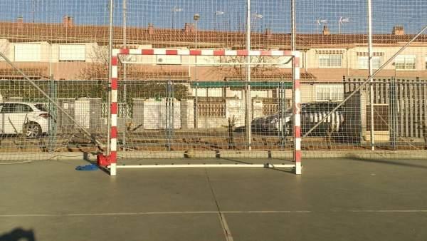 Una pista de fútbol sala