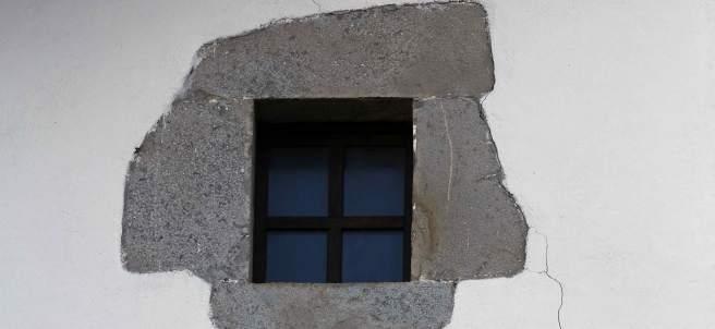 Una vivienda de Oricáin, afectada por el terremoto.