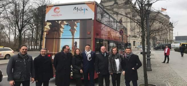 Costa del Sol Berlín ITB Málaga autobuses promoción turismo turística impactos