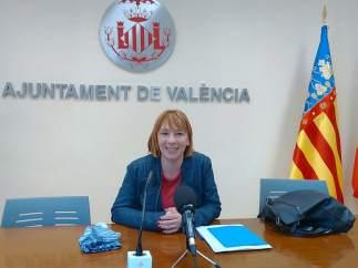 La regidora Pilar Soriano presenta el dispositiu de neteja de la ciutat per a les Falles.