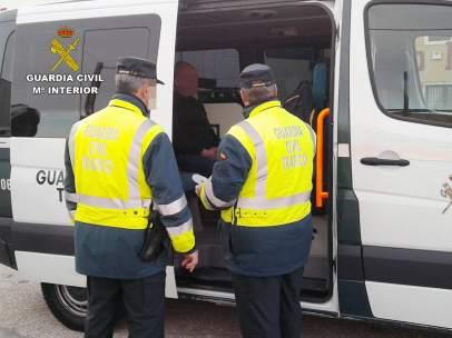 Control de alcoholemia, Guardia Civil, detenido