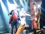 Avalancha en un concierto de Indio Solari