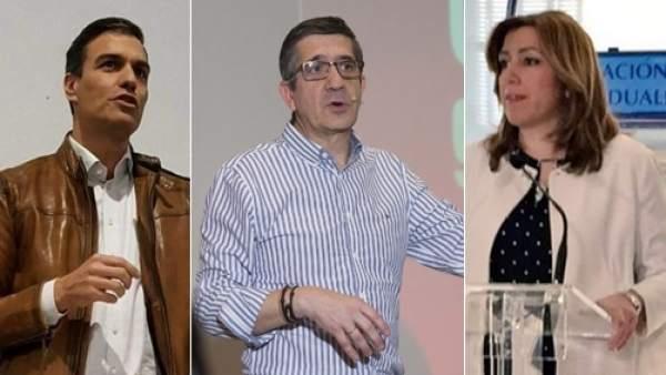Candidatos a las primarias del PSOE