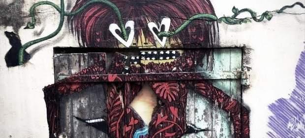 Obra que se puede ver en la muestra 'The Wall' en Cáceres