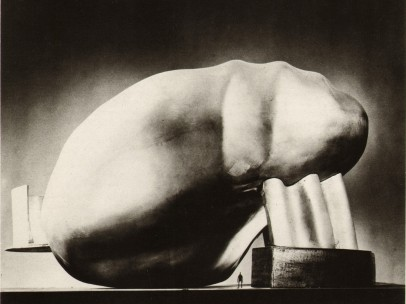 Frederick Kiesler, The Universal, side view looking at the entrance, model, New York 1962