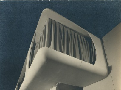 Frederick Kiesler, Space House, side view of the facade, showroom of the Modernage Furniture Company, New York 1933