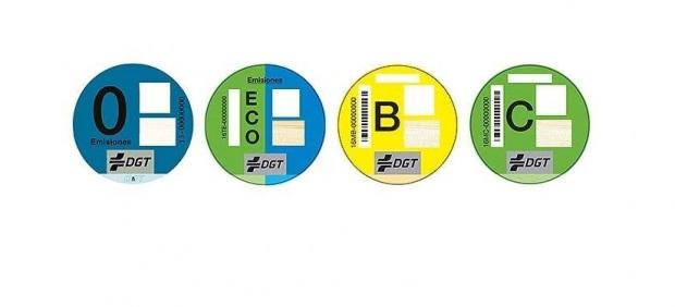 Identificativos de vehículos según la DGT