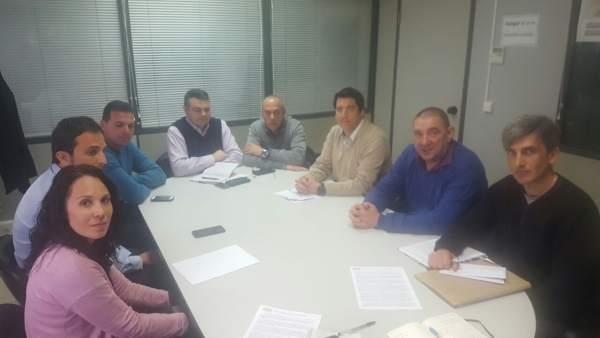 Reunión de trabajadores de jardines del Ayuntamiento