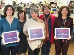 La ganadora y las finalistas del premio Avanzadoras 2017