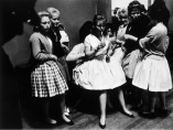Roger Mayne - Girls dressed up for a 'teenage night' at a Sheffield Club, 1961