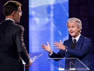 Wilders y Rutte