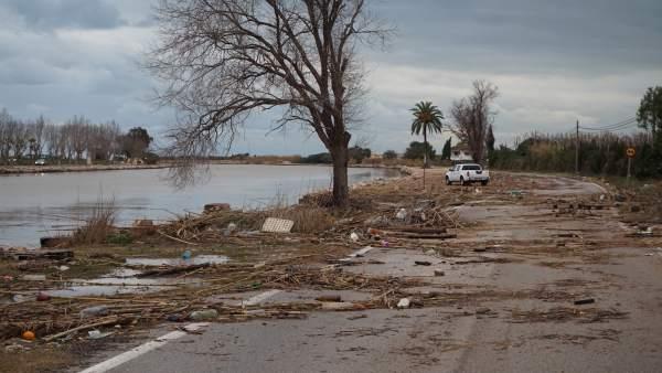 Efectos del temporal en Cullera