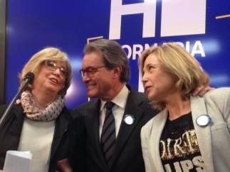 A.Mas, J.Ortega e I.Rigau en rueda de prensa