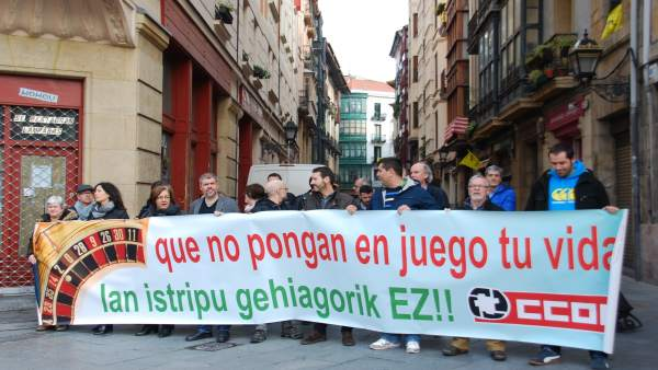 Concentración de CCOO Euskadi