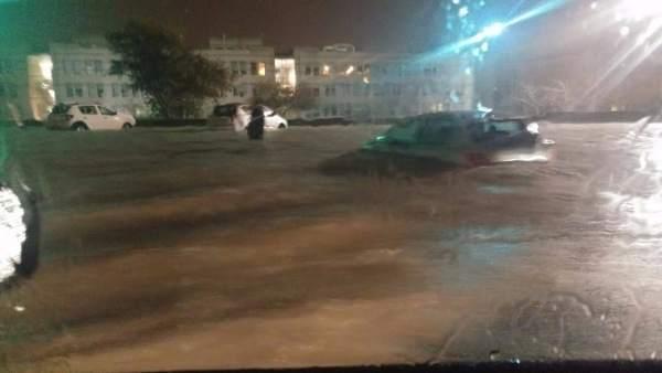 La carretera entre el Hospital de Sant Joan y la Santa Faz, anoche