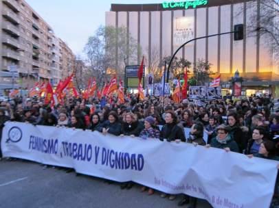 Manifestación 8 de marzo Día Internacional de las Mujeres