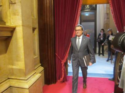 Artur Mas, en el Parlament.