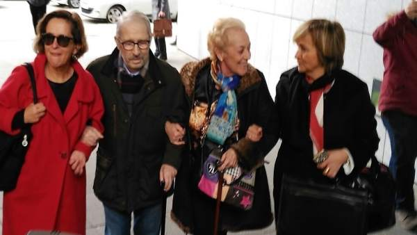José Ángel Fernández Villa a su llegada al juzgado.