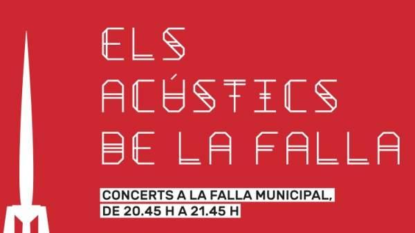 La falla municipal es converteix en escenari i acull tres concerts acústics de grups valencians