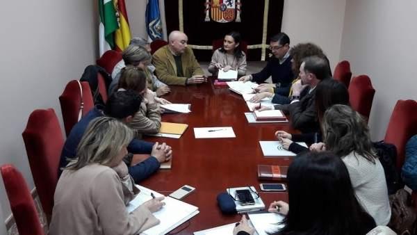 Reunión sobre el Catastro en la Subdelegación de Huelva.