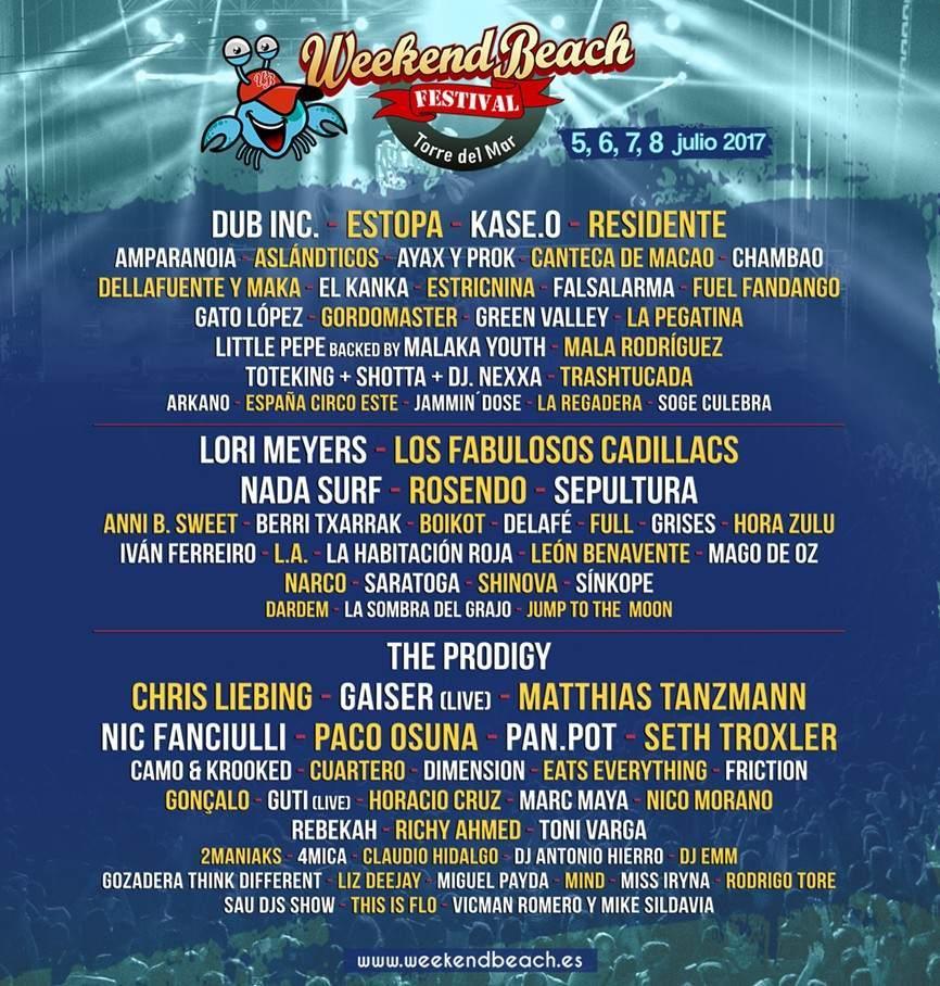 Cartel del Weekend Beach Festival