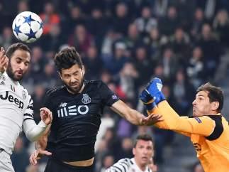 Casillas ante la Juventus