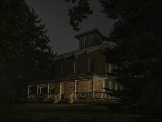 Jeanine Michna-Bales - Bird's Eye View. Erastus Farnham House, south of Fremont, Indiana, 2014