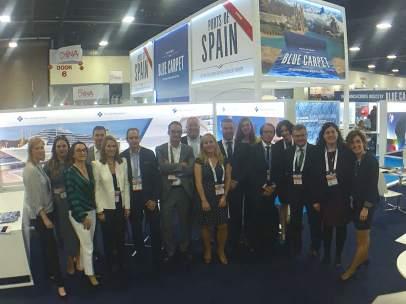 Delegación del Puerto de Barcelona en la Seatrade Cruise Global.