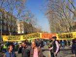 Manifestación de taxistas en Barcelona.