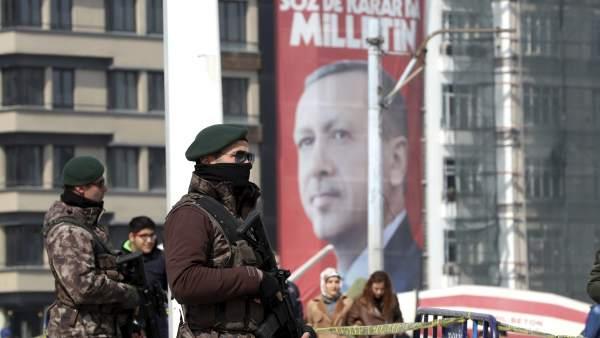 La plaza Taksim de Estambul