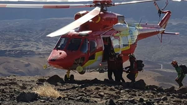 Rescate en el Teide