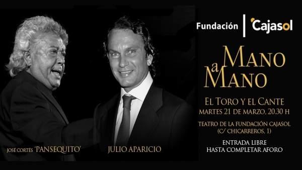 Panseguito y Julio Aparicio, mano a mano en Fundación Cajasol