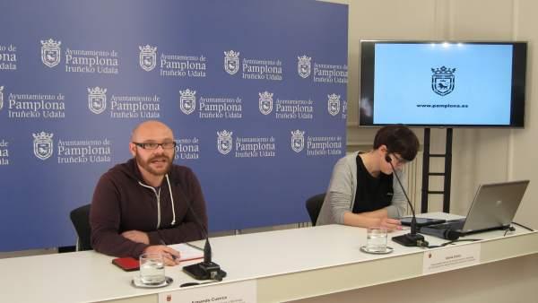 Armando Cuenca y la responsable de Movilidad, Alexia Canto