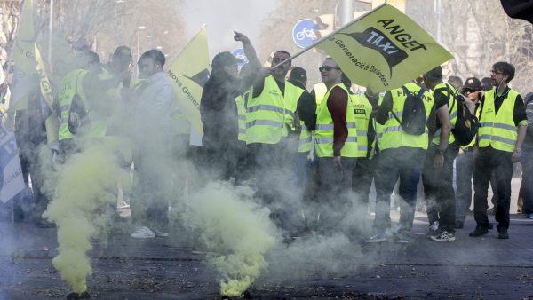 Huelga de taxistas en Barcelona