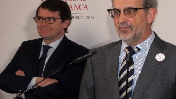 Salamanca: Mañueco (I) Y Ruipérez (D)