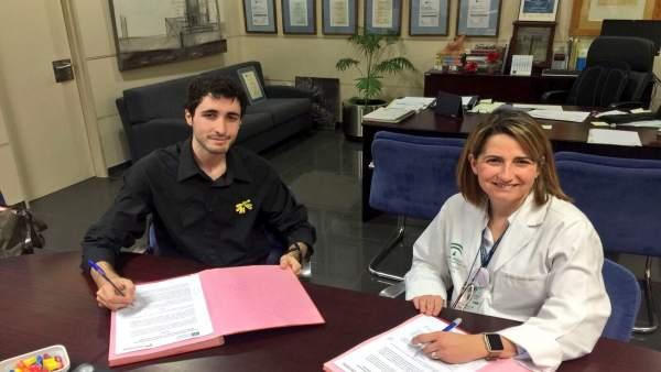 Firma de convenio entre Área Sanitaria Norte y Asocición Girasol