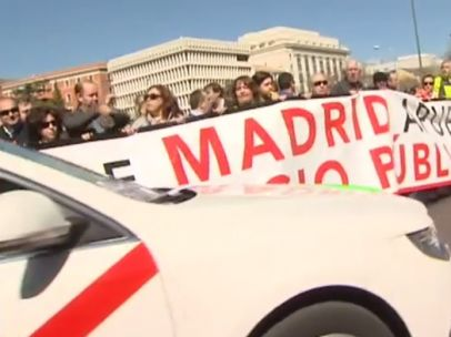 Paro de taxis en Madrid