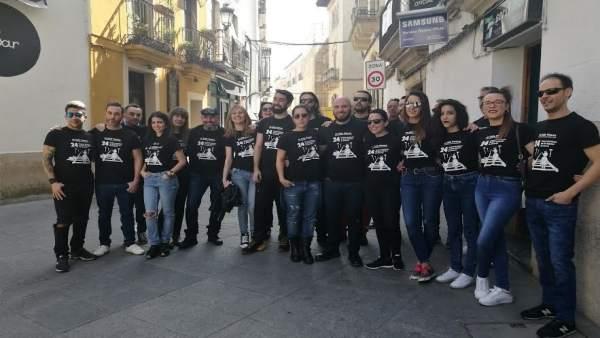 Hosteleros que participan en el Paseo de las Estrellas de Cáceres